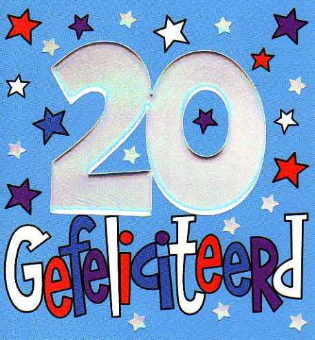 gefeliciteerd 20 Gefeliciteerd 20 Jaar Man   ARCHIDEV gefeliciteerd 20
